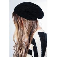 Feel The Warmth Beanie: Black