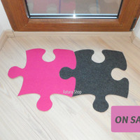 SALE** Puzzle floor mat design. Custom rug puzzle.
