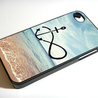 Infinity Anchor Refuse to Sink Blue Ocean Beach- iPhone 4 / iPhone 4S / iPhone 5 Case Cover 451K