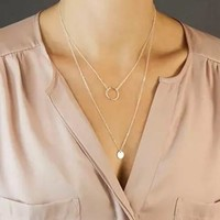 Shiny Jewelry New Arrival Gift Accessory Stylish Simple Design Style Metal Necklace [7298074119]