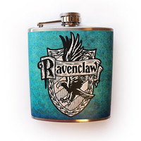 Ravenclaw House Crest Flask Harry Potter Inspired Customizable