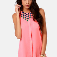 For the Win Neon Coral Tank Top