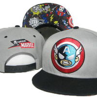 TokiDoki Marvel Captain America Snap-back Cap for Adults