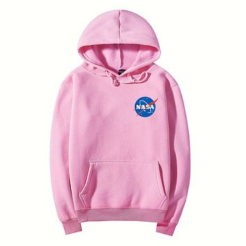 NASA Women Men Casual Pattern Print Hooded Top Sweater Hoodie