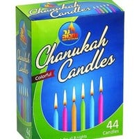 Ner Mitzvah Chanukah Candles Colorful - 44 Ct, 1 Pack