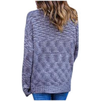 High Quality Solid Slim Fit Pullovers Knitted Sweater With Grey Black Hem Hole Tops Plus Size Knittwear Autumn Winter LX090