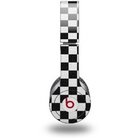 Checkered Canvas Black and White Decal Style Skin (fits genuine Beats Solo HD Headphones - HEADPHONES NOT INCLUDED): Everything Else