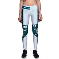 New Oakland Raiders 3D Print Pants Workout Casual Sexy Fitness Legging Plus Size Women High Waist Trousers, Dropshipping!