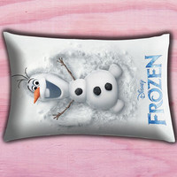 """Disney Frozen Olaf Poster Pillow Cover, Pillow case, Throw Bed Bedroom, Size 30"""" x 20"""""""