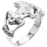 Frog Wrap Sterling Silver Ring