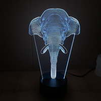 Colorful Stylish Bright Creative Multi-color 3D Acrylic LED Gifts Lights [9245718020]