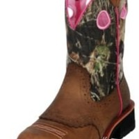 Ariat Womens Fatbaby Cowgirl Boot, Distressed Brown-Camo, 12 B US