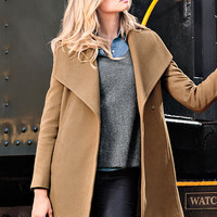 Belted Wrap Coat - Michael by Michael Kors