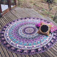 Durable  Beach towel  Chiffon Beach Cover Up Round Beach Pool Home Shower Towel Blanket Table Cloth  Mat from india