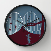 Minimalist circus Wall Clock by Tony Vazquez