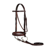 Ovation® Ultra Fancy-Stitched Wide Nose Bridle | Dover Saddlery