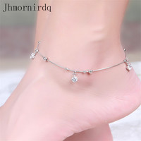 925 sterling silver anklets for women beach anklet with beads chinese market online beaded foot jewelry ankle chain bracelets