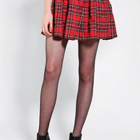 Urban Outfitters - Reverse Studded-Waistband Plaid Circle Skirt