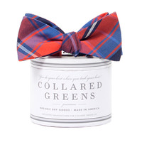 Spyglass Plaid Red Blue Bow Tie American Made