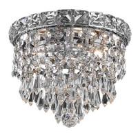 Karci - Flush Mount (2 Light Modern Flush Mount Crystal Chandelier) - 2148F8