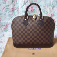 Authentic Louis Vuitton Alma Damier Ebene Handbag