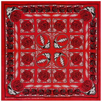 Grateful Dead - Steal Your Face Red Bandana