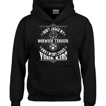 Don t Judge My NORWICH TERRIER And I Wont Judge Your Kids v3 - Hoodie