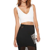 Nasty Gal Stella Mesh Pencil Skirt