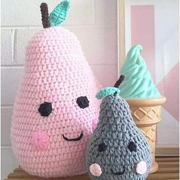 Knitted Pear Baby Bedding Pillow
