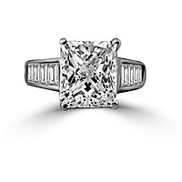 5CT Radiant Diamond Veneer Cubic Zirconia Sterling Silver Cocktail/Engagement Ring. 635R7817