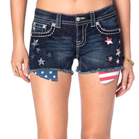 Miss Me Women's Sequin Star Cutoff Shorts