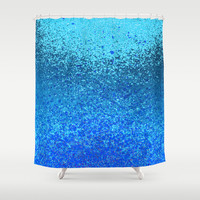 ocean ripple Shower Curtain by Marianna Tankelevich
