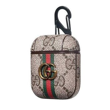 GUCCI AirPods Leather Case