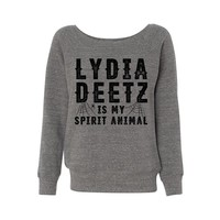 Lydia Deetz is My Spirit Animal (Beetlejuice) Wideneck Sweatshirt