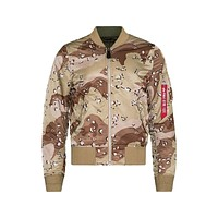 Alpha Industries Men's MA-1 Double Camo Reversible Bomber Jacket