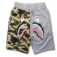 BAPE Camo Shark Head Jogger Shorts