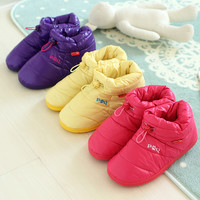 Colorful Down Feather Indoor Slippers