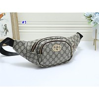 GUCCI hot seller of casual lady slant across the chest bag fashion printing patchwork color Fanny pack #1