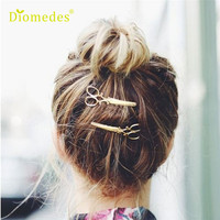 Newly Design 1pc Scissors Shape Hairgrips Hair Clips Women Girls Hair Jewelry Accessories 160419
