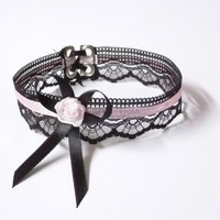 Baroque Choker with Lace in Gothic and Victorian by estylissimo