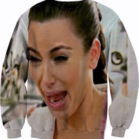 Kim Kardashian Crying Crewneck Sweater Sweatshirt