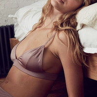 Out From Under Marlo Shiny Micro Knit Triangle Bra - Urban Outfitters