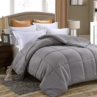 Down Alternative Comforter, Duvet Insert, Fluffy, Warm, Soft & Hypoallergenic Available in more colors