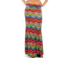 Tribal Hilo Beach Coral Maxi Skirt