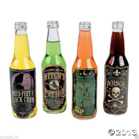 12 HALLOWEEN Prop Party Decoration Bar DRINK Soda Beer Water BOTTLE LABELS