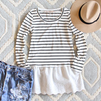 Saturday Stripe Tee
