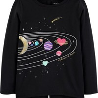 Space Split Back Matchtastic Tee