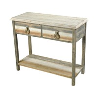Aged Grey Washed Accent Table