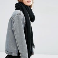 ASOS | ASOS Long Tassel Scarf in Supersoft Knit at ASOS