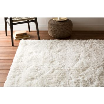 Grizzly Plush Pile White Rug